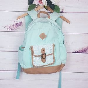 PB teen | Lace Pocket Light Green Back-pack